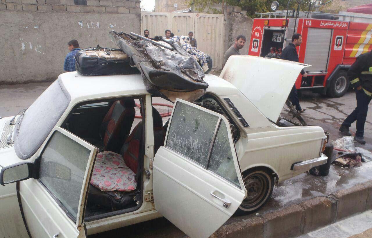 انفجار مخزن گاز یک خودرو در شیراز