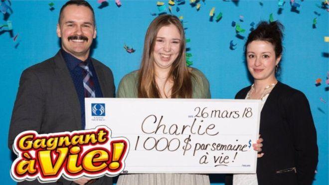 دختر کانادایی با اولین بلیت بختآزمایی، جایزه بزرگ را برد