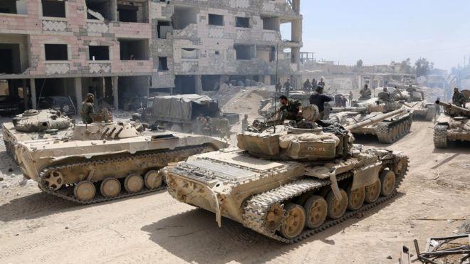 روسیه آمریکا را به خودداری از عملیات علیه سوریه ترغیب کرد