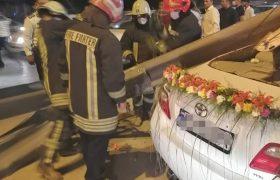 نجات جان عروس و داماد شیرازی توسط آتش نشانان
