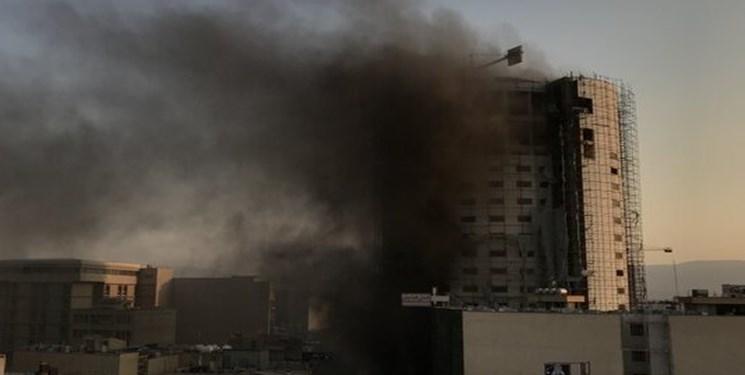 احتمال فروریختن هتل آسمان شیراز
