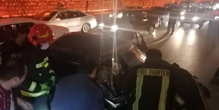 دو تصادف پیاپی در شیراز ۱۰ مصدوم به جا گذاشت