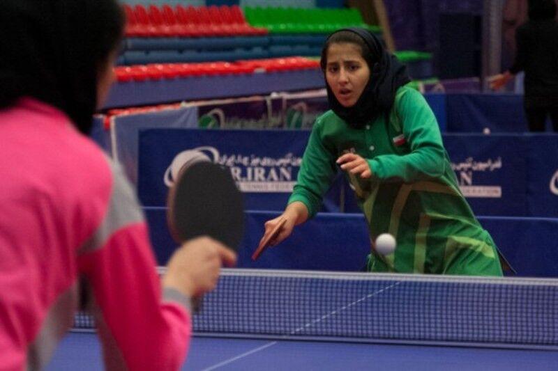 نفرات برتر رقابتهای پینگ پنگ دختران فارس مشخص شدند
