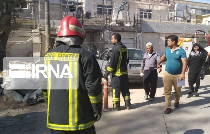 مهار آتش سوزی در بیمارستان بهشتی شیراز