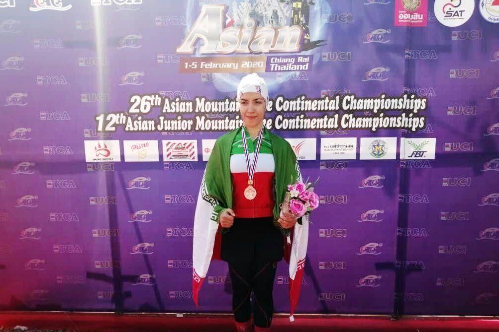 دوچرخهسوار شیرازی مقام سوم مسابقات آسیا را کسب کرد