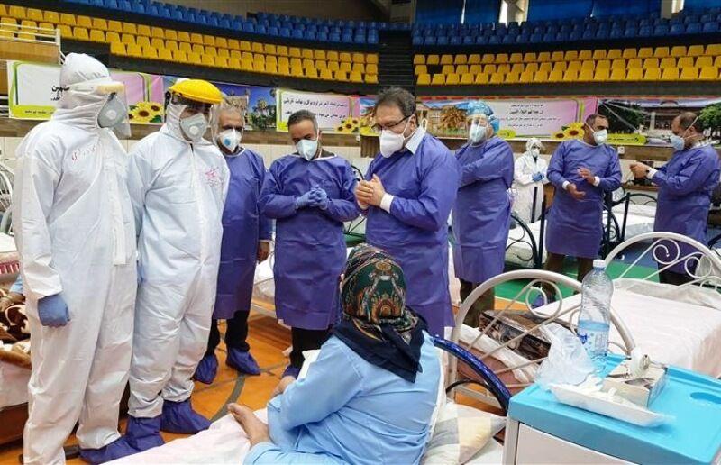 تداوم خدماترسانی نقاهتگاه ورزشگاه دستغیب شیراز به بیماران بهبودیافته کرونا