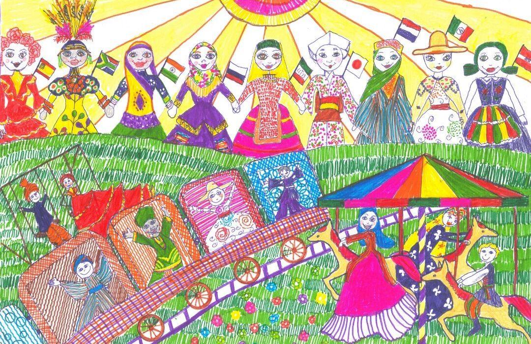 کودک نقاش شیرازی برنده جایزه جهانی شهر دوستدار صلح شد