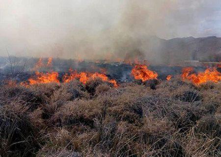 ۶ هکتار از مراتع اقلید در آتش سوخت