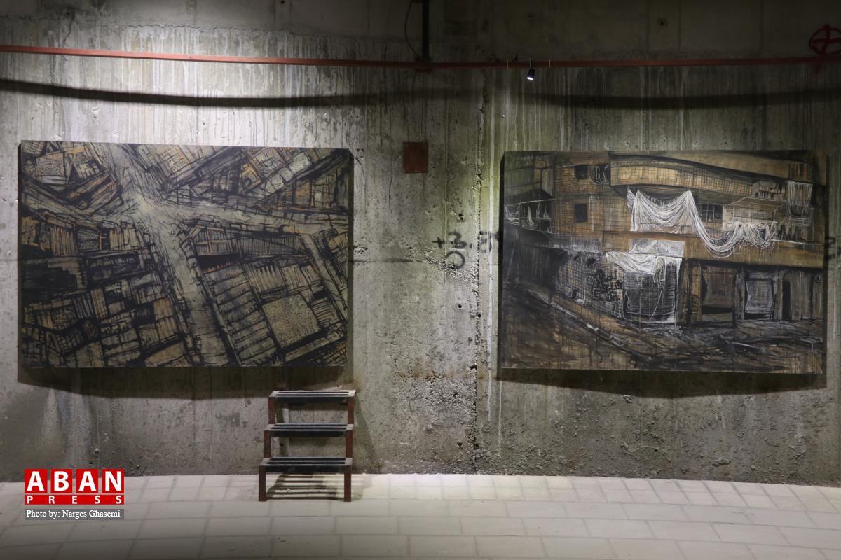 آلبوم عکس؛ نمایشگاه نقاشی ویرانشهر