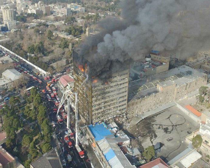 نحوه شروع آتشسوزی ساختمان پلاسکو مشخص شد
