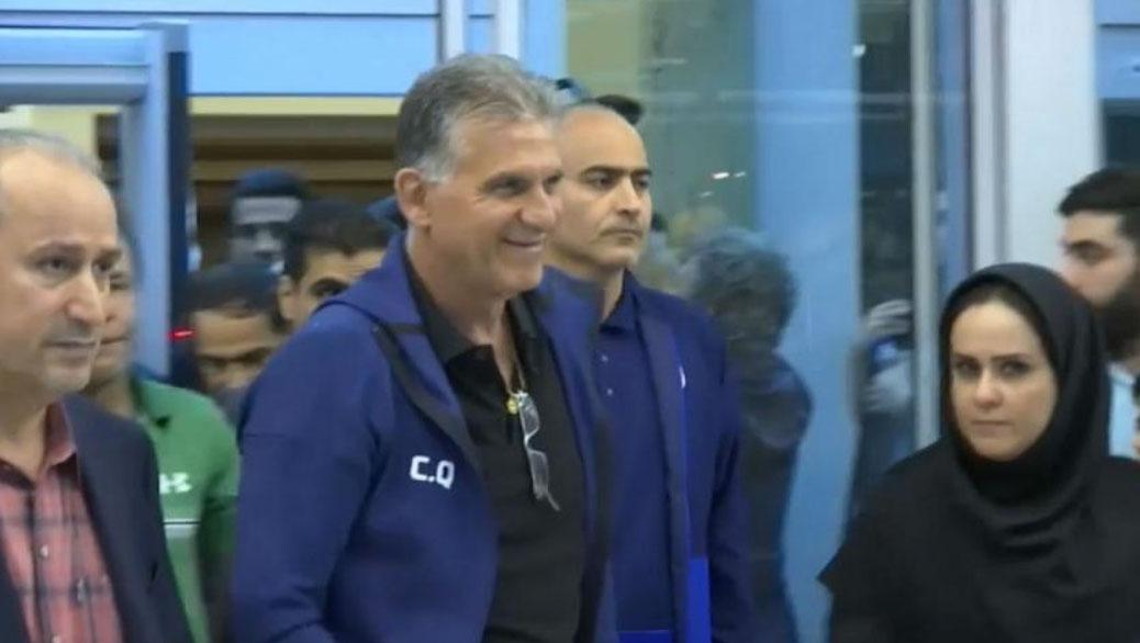 استقبال از کیروش و فوتبالیستهای تیم ملی ایران در فرودگاه