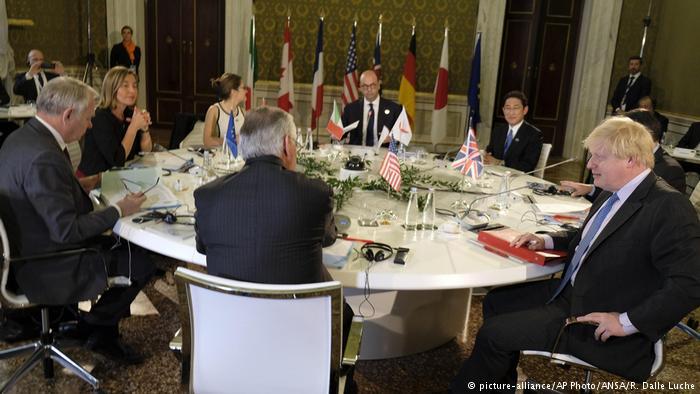 گروه هفت خواستار عدم حمایت روسیه از اسد شد