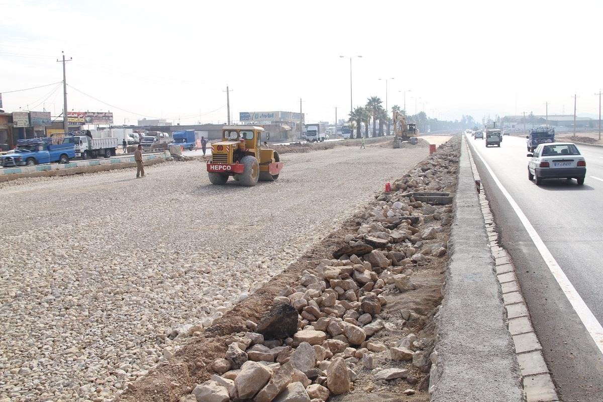 بازسازی بزرگراه خلیج فارس شیراز