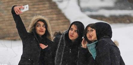 بارش برف در استان همدان