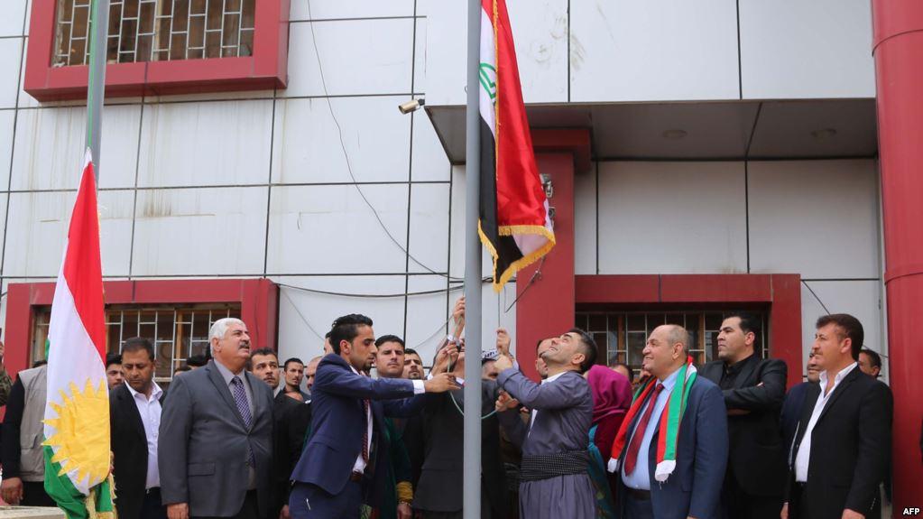 ایران با نصب پرچم اقلیم کردستان در شهر کرکوک مخالفت کرد