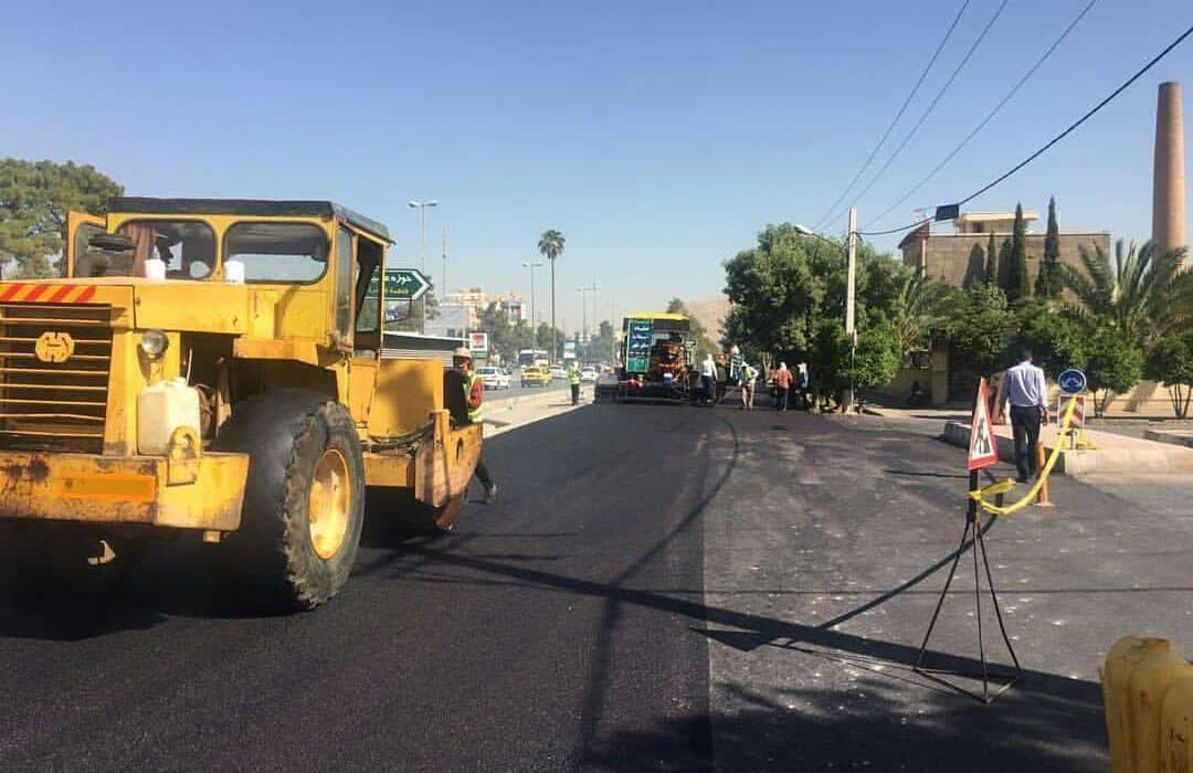 ادامه آسفالت خیابانهای شیراز