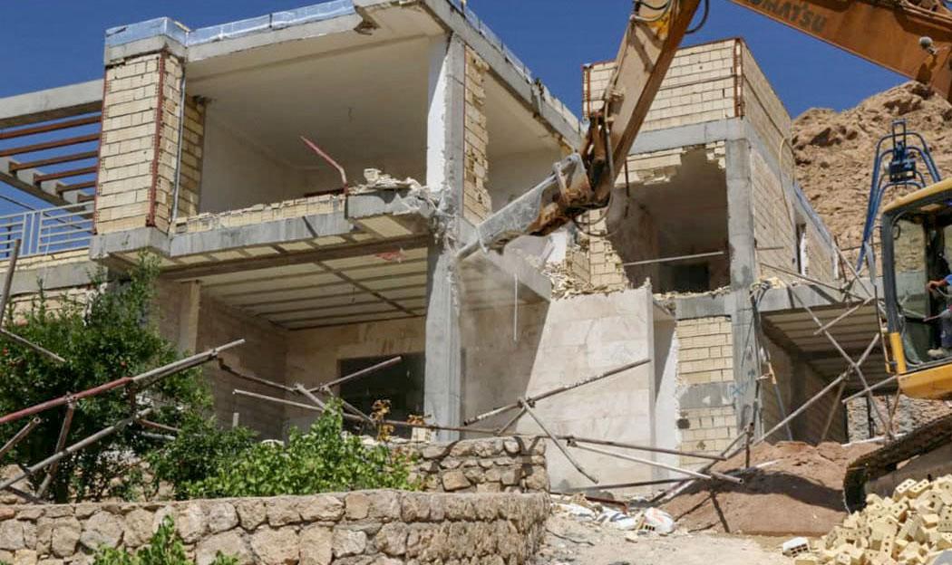 تخریب ویلاهای منطقه دشتکوه شیراز