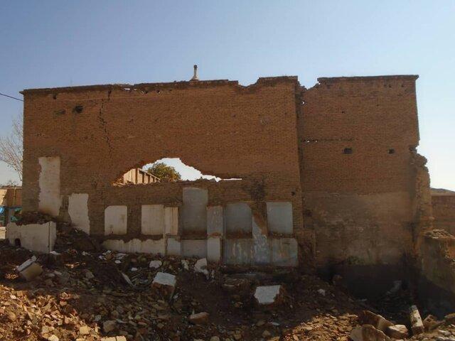 تخریب بخشی از دیوار خانه قاجاری در شیراز