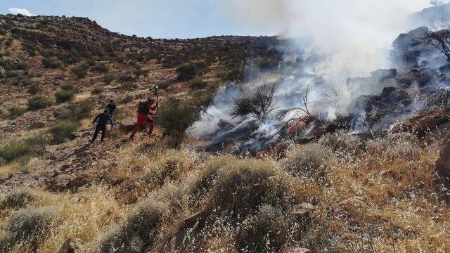 مهار آتش سوزی در کوه دراک شیراز