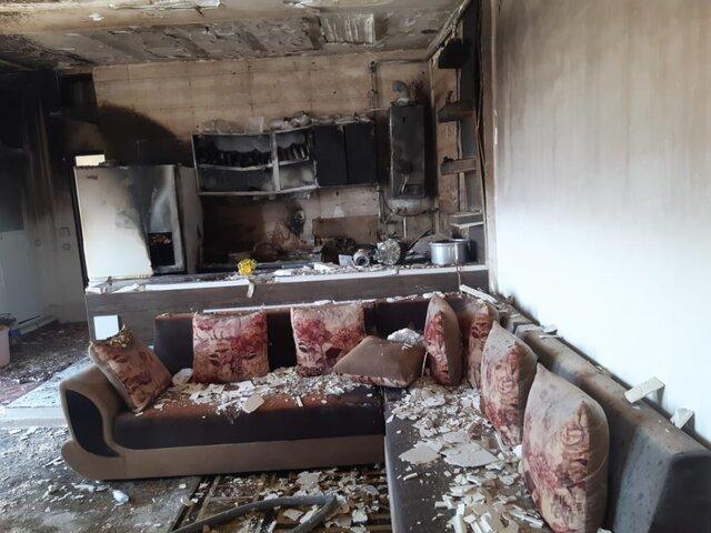 نشت گاز عامل حریق یک خانه در شیراز
