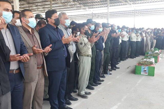 جانباختگان آتش سوزی هایقر فیروزآباد تشییع شدند