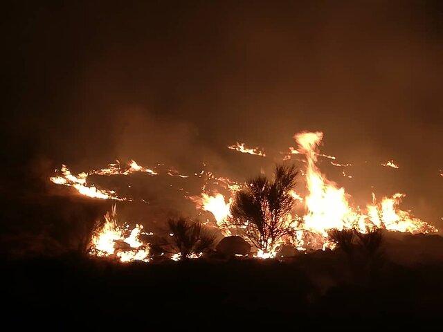 آتش کوه دراک شیراز خاموش شد