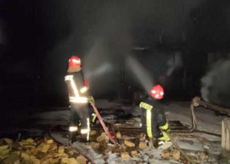 آتشسوزی در کارخانه تصفیه روغن در شیراز اطفاء شد