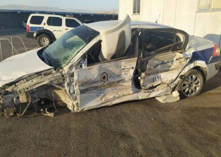 تصادف خودروی گشت پلیس در لارستان
