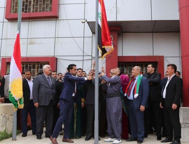 اختلاف در مورد برافراشتن پرچم اقلیم کردستان بر ساختمانهای کرکوک