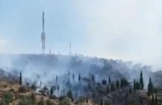 آتش سوزی در شهرک گلستان شیراز