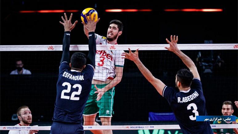والیبالیستهای ایران ۳ بر صفر مقابل آمریکا به پیروزی رسیدند