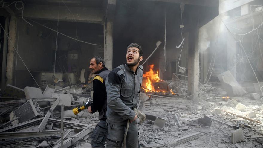 دیده بان حقوق بشر سوریه: پنج روز بمباران غوطه شرقی ۴۱۶ کشته بر جا گذاشت
