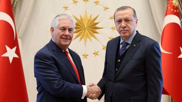 """وزیر خارجه آمریکا """"برای بهبود روابط"""" به ترکیه سفر کرد"""