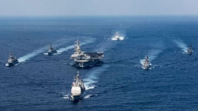 اعزام ناو گروه جنگی آمریکا به شبه جزیره کره
