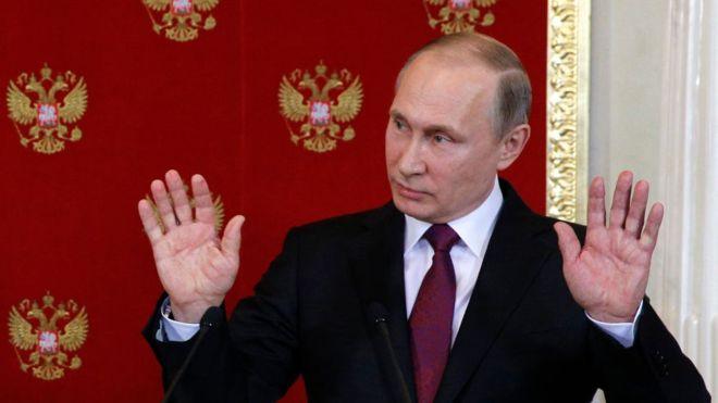 پوتین: دشمنان اسد برای حملات شیمیایی بیشتری برنامهریزی میکنند