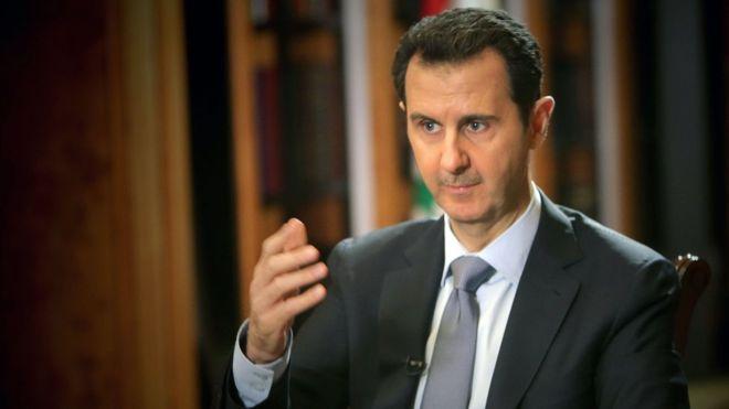 بشار اسد: حمله شیمیایی ساختگی است