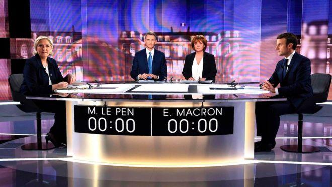 رویارویی تند نامزدهای انتخابات فرانسه در یک مناظره تلویزیونی