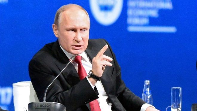 ولادیمیر پوتین اتهام دخالت در انتخابات آمریکا را رد کرد