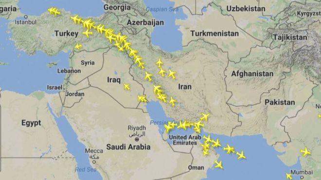 افزایش پروازهای قطر بر فراز ایران