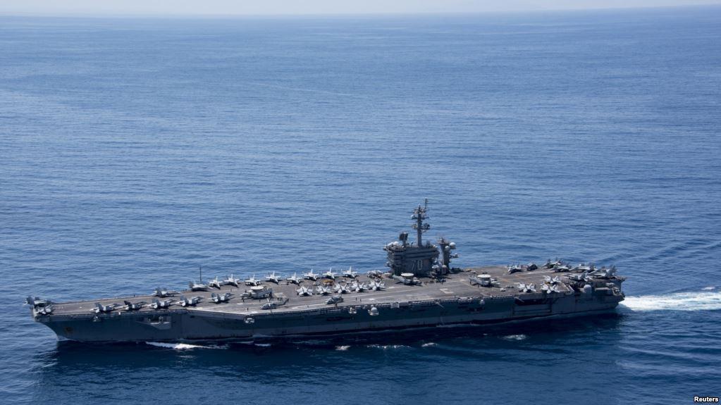 تهدید کره شمالی به غرق کردن ناو هواپیمابر آمریکا