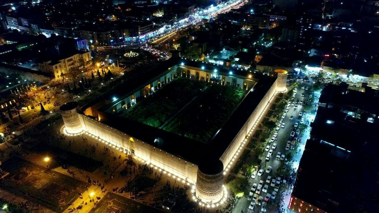 نورپردازی سه بعدی روی دیوار ارگ کریمخان شیراز اجرا میشود