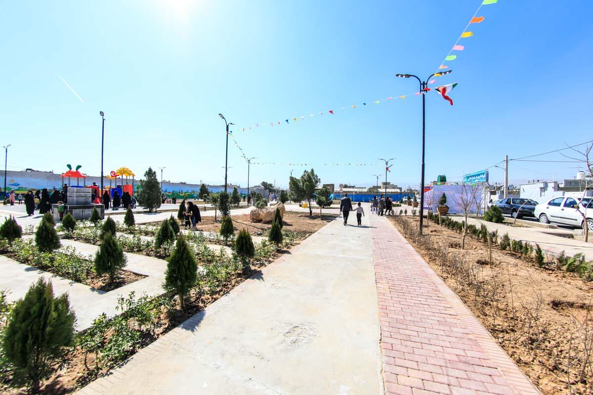 پارک قشقایی در محله شیخ علی چوپان و دهپیاله شیراز افتتاح شد