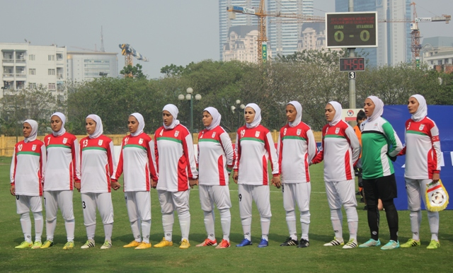 شکست تیم ملی فوتبال بانوان ایران مقابل میانمار