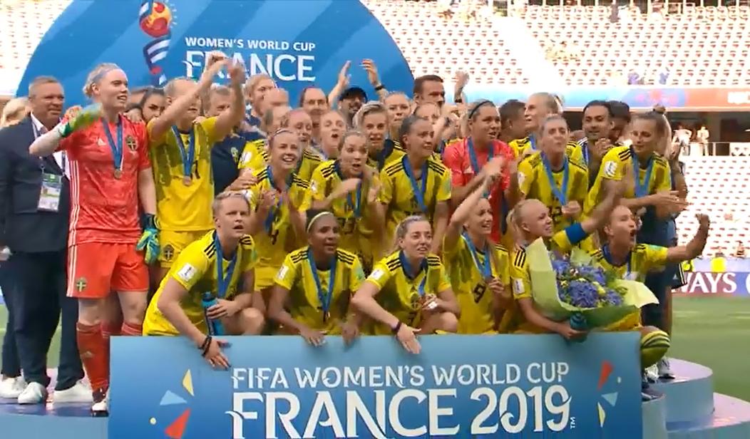 تیم فوتبال زنان سوئد به مقام سوم جام جهانی رسید