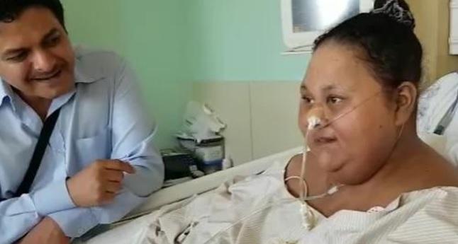 زن ۵۰۰ کیلویی با عمل جراحی، نصف وزن خود را کم کرد
