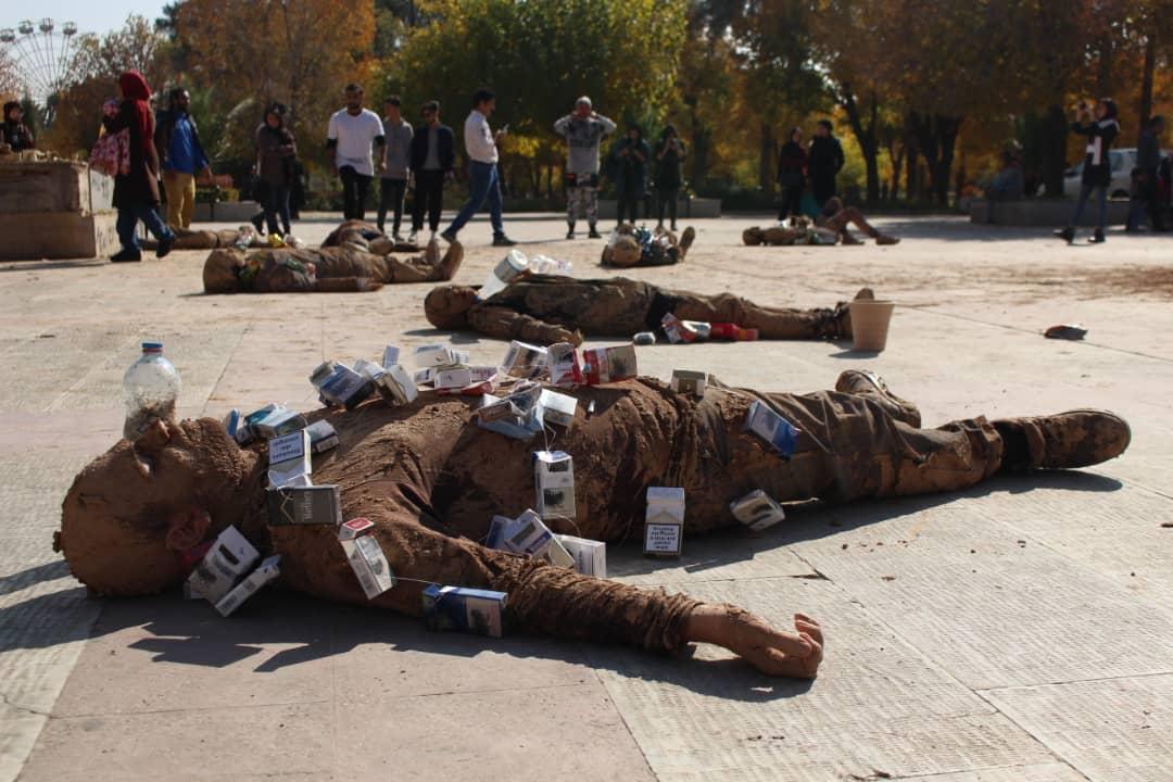 نمایش خیابانی در شیراز به انگیزه روز جهانی خاک