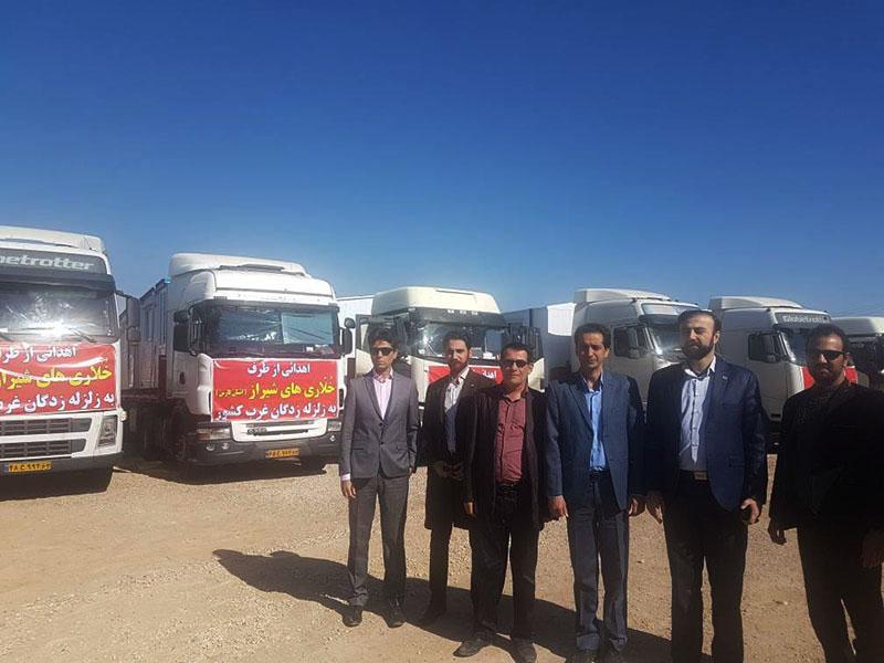 خُلّاریهای شیراز ۳۰ کانکس مسکونی به زلزله زدگان غرب کشور ارسال کردند