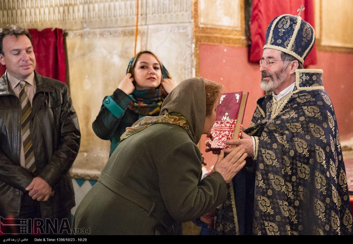 آلبوم عکس؛ آیین مذهبی ارامنه شیراز به مناسبت سال نو میلادی