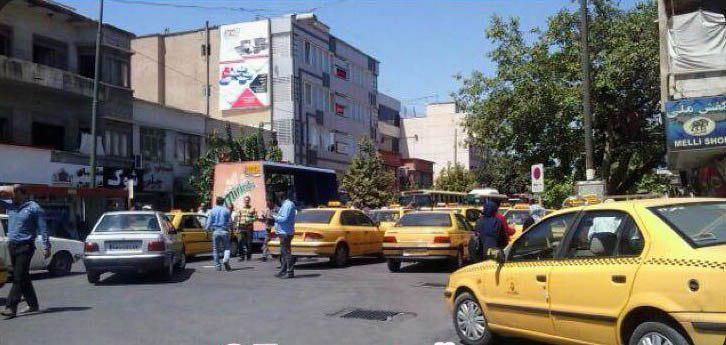 تجمع تاکسیداران شیراز در اعتراض به «اسنپ»
