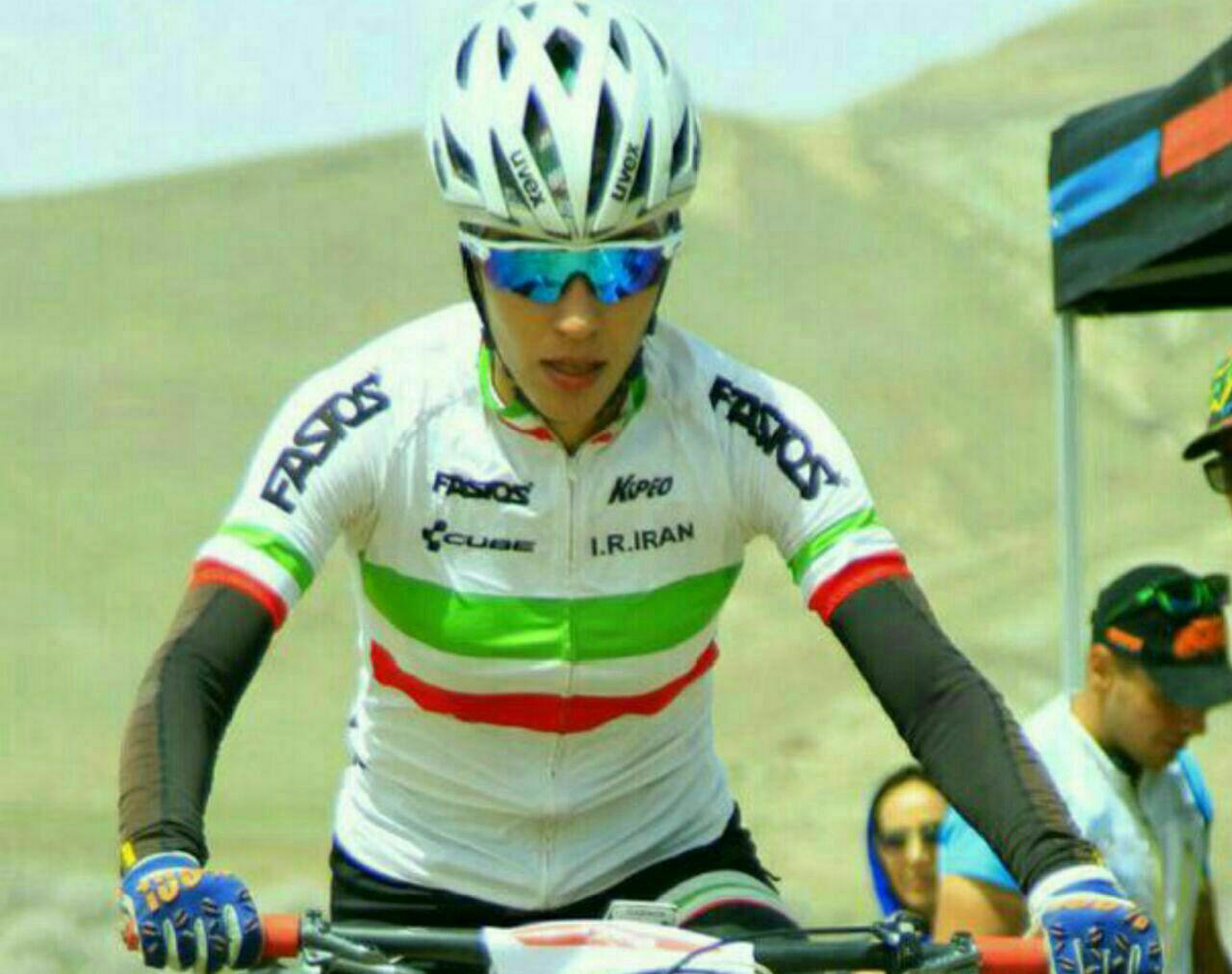فرانک پرتوآذر، دوچرخه سوار شیرازی در رده نخست آسیا ایستاد